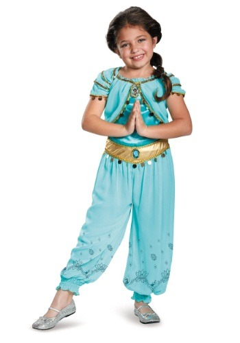 Click Here to buy Kids Jasmine Prestige Costume from HalloweenCostumes, CDN Funds & Shipping
