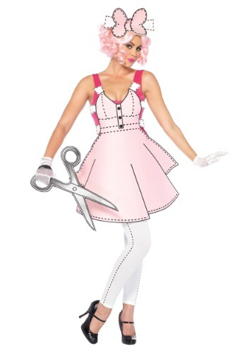 Women's Pretty Paper Doll Costume