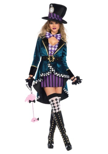 Womens Delightful Hatter Costume