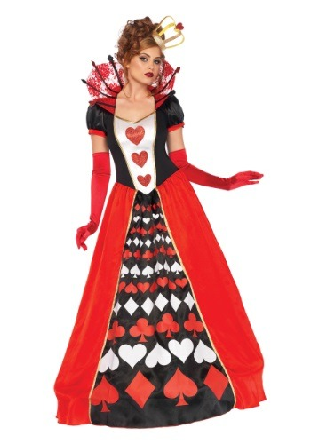 Click Here to buy Womens Deluxe Queen of Hearts Costume from HalloweenCostumes, CDN Funds & Shipping