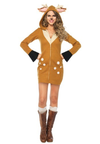 Womens Cozy Fawn Costume