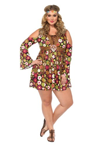 Click Here to buy Plus Size Starflower Hippie Costume from HalloweenCostumes, CDN Funds & Shipping