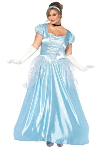 Click Here to buy Plus Size Cinderella Classic Costume from HalloweenCostumes, CDN Funds & Shipping