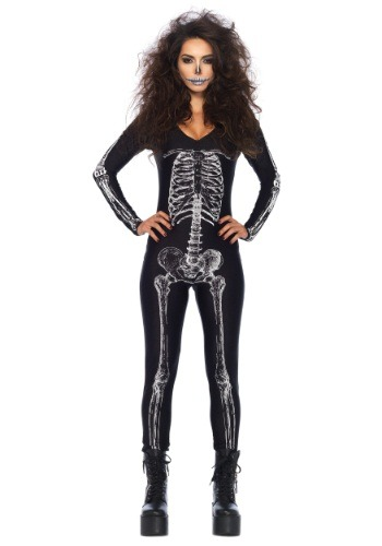 Womens X-Ray Skeleton Catsuit Costume