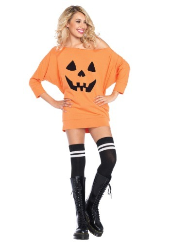 Jersey Pumpkin Dress Adult Size Costume
