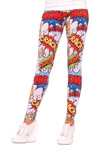 Comic Print Leggings