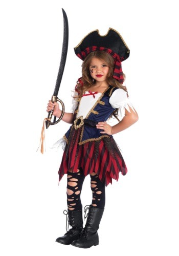 Click Here to buy Caribbean Pirate Girls Costume from HalloweenCostumes, CDN Funds & Shipping