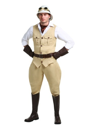Click Here to buy Safari Hunter Mens Costume from HalloweenCostumes, CDN Funds & Shipping