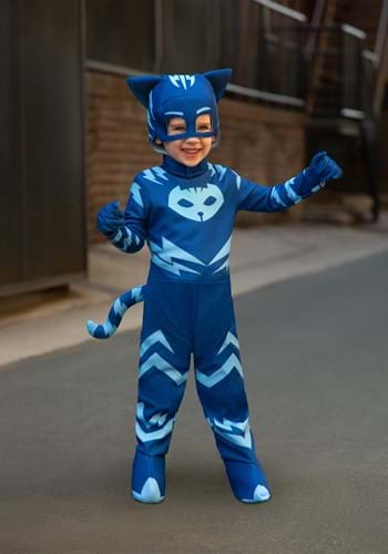 Click Here to buy Deluxe PJ Masks Cat Boy Costume from HalloweenCostumes, CDN Funds & Shipping