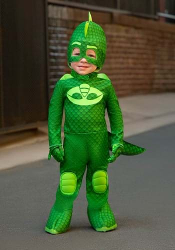 Click Here to buy Deluxe PJ Masks Gekko Costume | Kids Halloween Costume from HalloweenCostumes, CDN Funds & Shipping