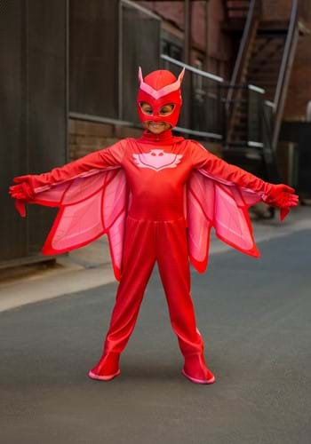 Click Here to buy PJ Masks Deluxe Owlette Girls Costume from HalloweenCostumes, CDN Funds & Shipping