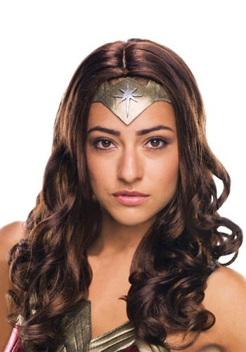 Click Here to buy Dawn of Justice Deluxe Adult Wonder Woman Wig from HalloweenCostumes, CDN Funds & Shipping