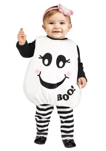 Click Here to buy Toddler Baby Boo! Ghost Costume from HalloweenCostumes, CDN Funds & Shipping