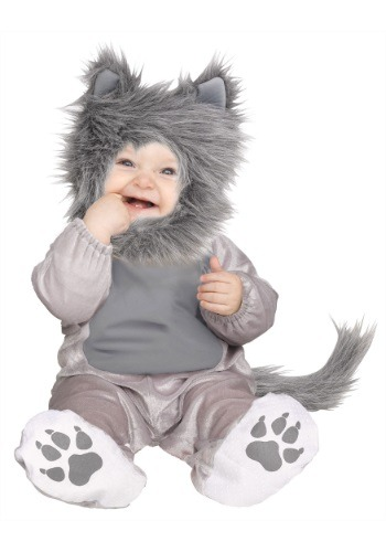 Click Here to buy Baby & Toddler Lil Wolf Cub Costume from HalloweenCostumes, CDN Funds & Shipping