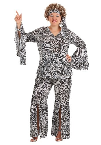 Click Here to buy Plus Size Womens Foxy Lady Disco Costume | 70s Costume from HalloweenCostumes, CDN Funds & Shipping