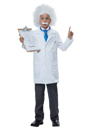Click Here to buy Kids Albert Einstein/Physicist Costume from HalloweenCostumes, CDN Funds & Shipping