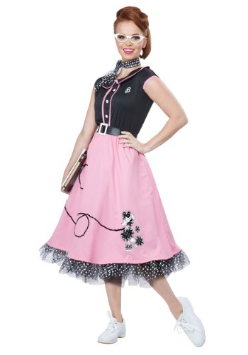 Click Here to buy Adult 50s Sweetheart Costume from HalloweenCostumes, CDN Funds & Shipping