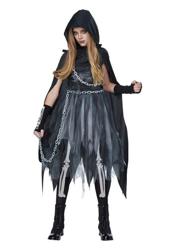 Click Here to buy Reaper Girl Girls Costume from HalloweenCostumes, CDN Funds & Shipping