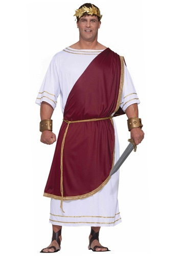 Click Here to buy Plus Size Mighty Caesar Costume from HalloweenCostumes, CDN Funds & Shipping