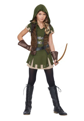 Click Here to buy Girls Miss Robin Hood Costume | Girls Superhero Costume from HalloweenCostumes, CDN Funds & Shipping