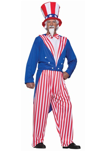 Click Here to buy Plus Size Uncle Sam Costume from HalloweenCostumes, CDN Funds & Shipping