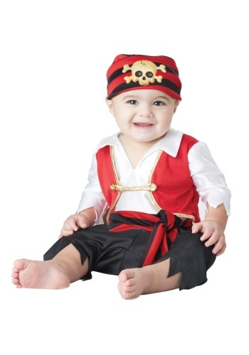 Click Here to buy Pee Wee Pirate Baby Costume from HalloweenCostumes, CDN Funds & Shipping