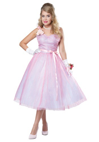 Womens Adult 50s Prom Beauty Costume
