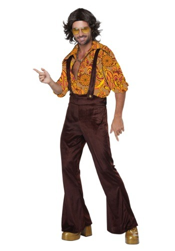 Mens Adult Jive Talkin Disco Dude Costume
