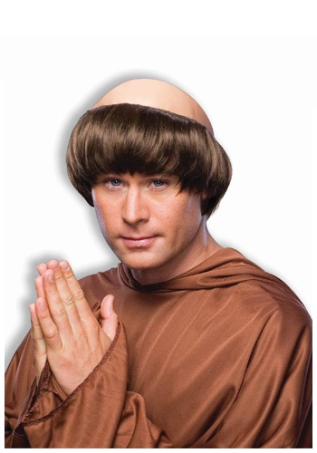 Click Here to buy Dark Brown Monk Wig from HalloweenCostumes, CDN Funds & Shipping