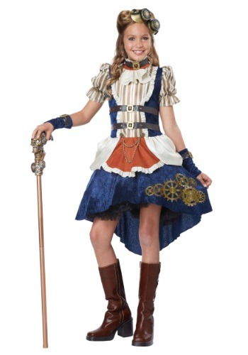 Girls Steampunk Costume | Girls Historical Costume