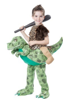 Child Ride a Dinosaur Costume