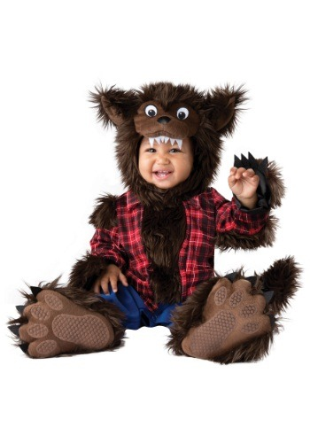Click Here to buy Wee Werewolf Costume For Baby from HalloweenCostumes, CDN Funds & Shipping