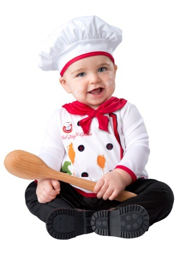 Click Here to buy Baby Hugs and Quiches Chef Costume from HalloweenCostumes, CDN Funds & Shipping