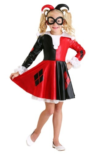 Click Here to buy Kids Harley Quinn Costume from HalloweenCostumes, CDN Funds & Shipping