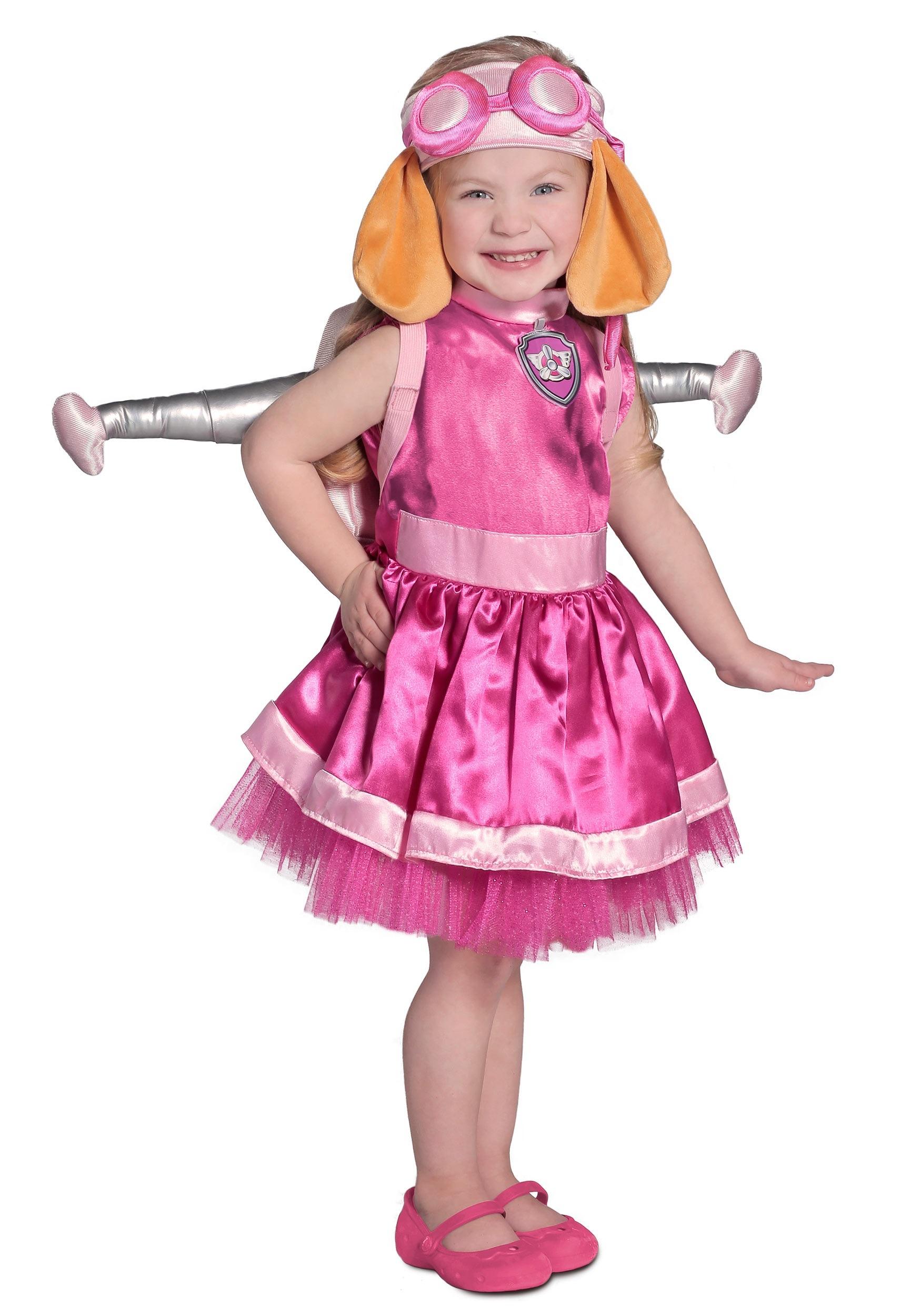 Nickelodeon Paw Patrol Skye Child Costume Girls Toddler Helicopter Cockapoo Dog