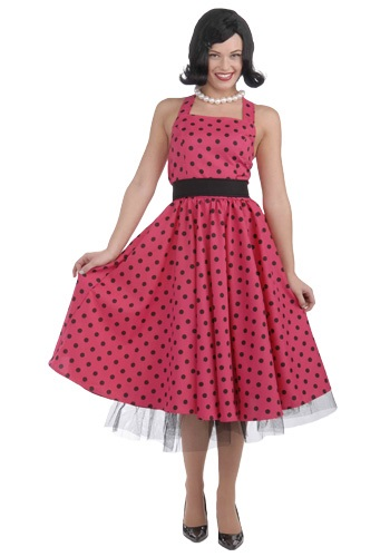Click Here to buy 50s Polka Dot Dress Costume from HalloweenCostumes, CDN Funds & Shipping