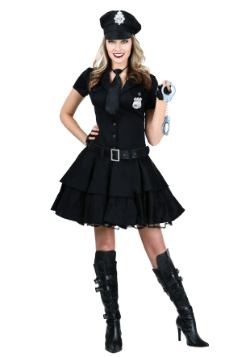 Women's Playful Police Costume