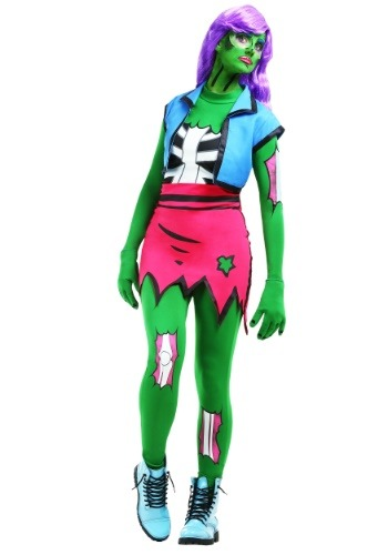 Click Here to buy Pop Art Zombie Womens Costume from HalloweenCostumes, CDN Funds & Shipping