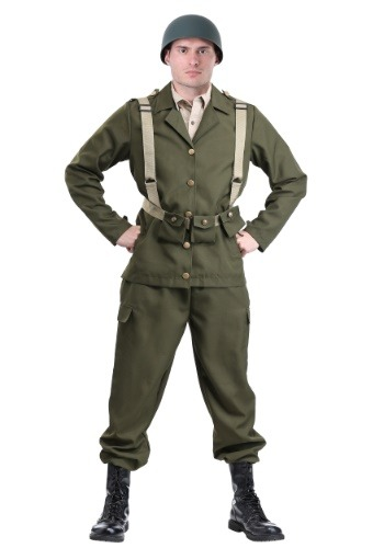 Deluxe WW2 Soldier Costume for Adults