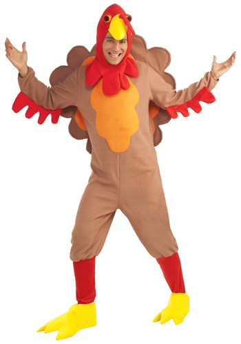 Click Here to buy Adult Fleece Turkey Costume from HalloweenCostumes, CDN Funds & Shipping