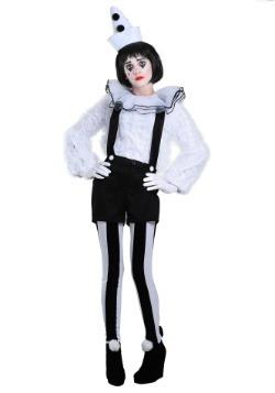 Vintage Pierrot Clown Womens Costume