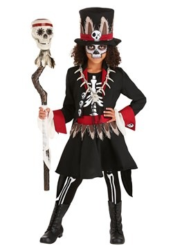 Girl's Voodoo Skeleton Costume