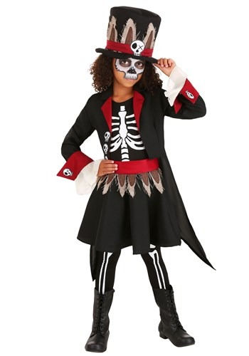 Click Here to buy Voodoo Skeleton Girls Costume from HalloweenCostumes, CDN Funds & Shipping