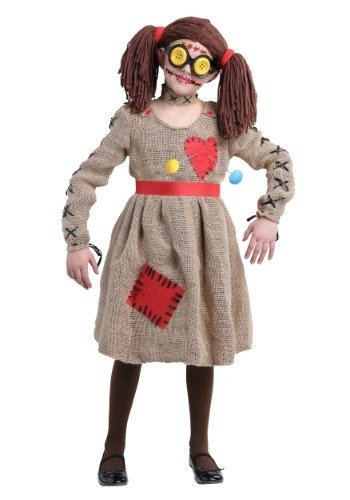 Click Here to buy Burlap Voodoo Doll Girls Costume from HalloweenCostumes, CDN Funds & Shipping