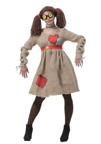 Click Here to buy Burlap Voodoo Doll Womens Costume from HalloweenCostumes, CDN Funds & Shipping