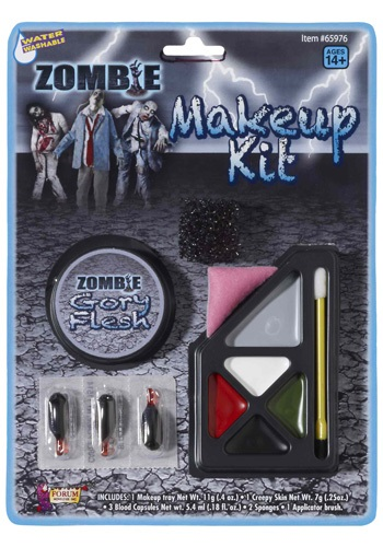Click Here to buy Gory Zombie Makeup Kit from HalloweenCostumes, CDN Funds & Shipping