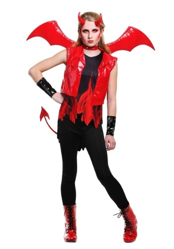 Demon Fire Costume for Girls
