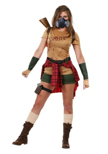 Click Here to buy Ladies Zombie Survivor Costume from HalloweenCostumes, CDN Funds & Shipping
