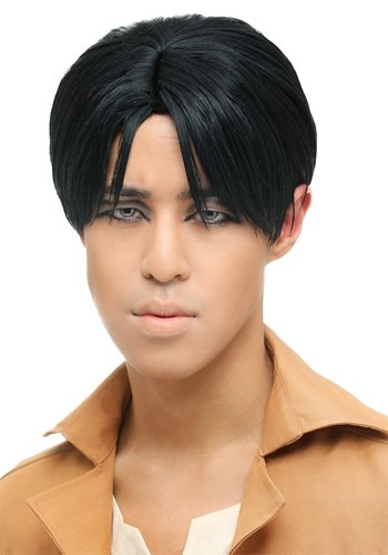 Click Here to buy Attack on Titan Levi Wig for Men from HalloweenCostumes, CDN Funds & Shipping