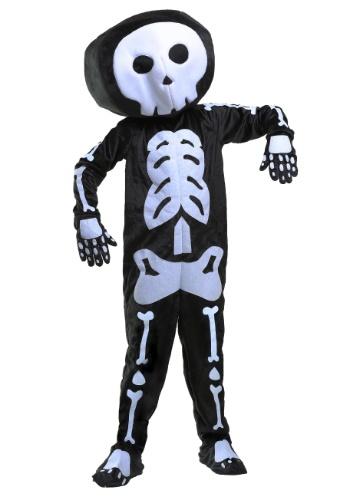 Plush Skeleton Boys Costume